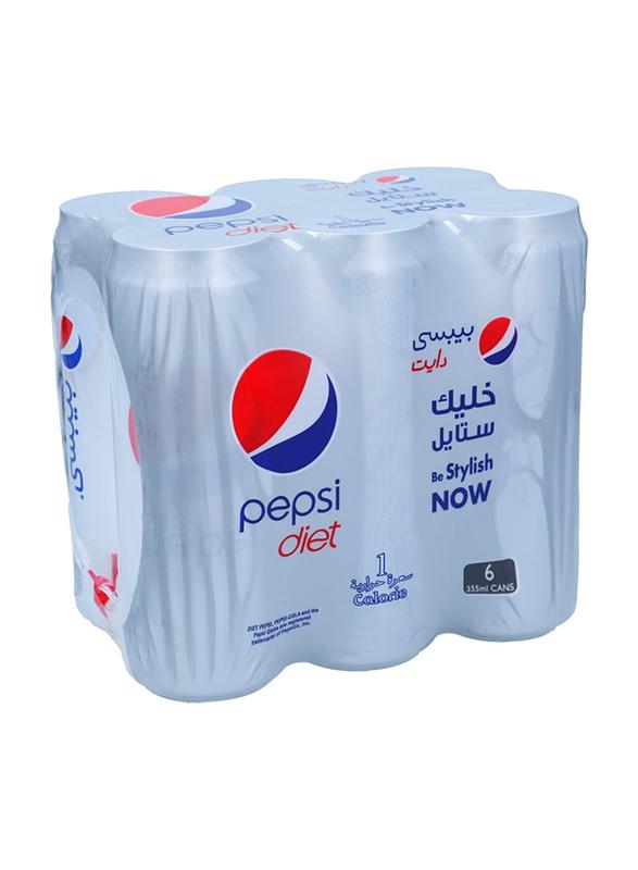 Diet Pepsi 355mlx6