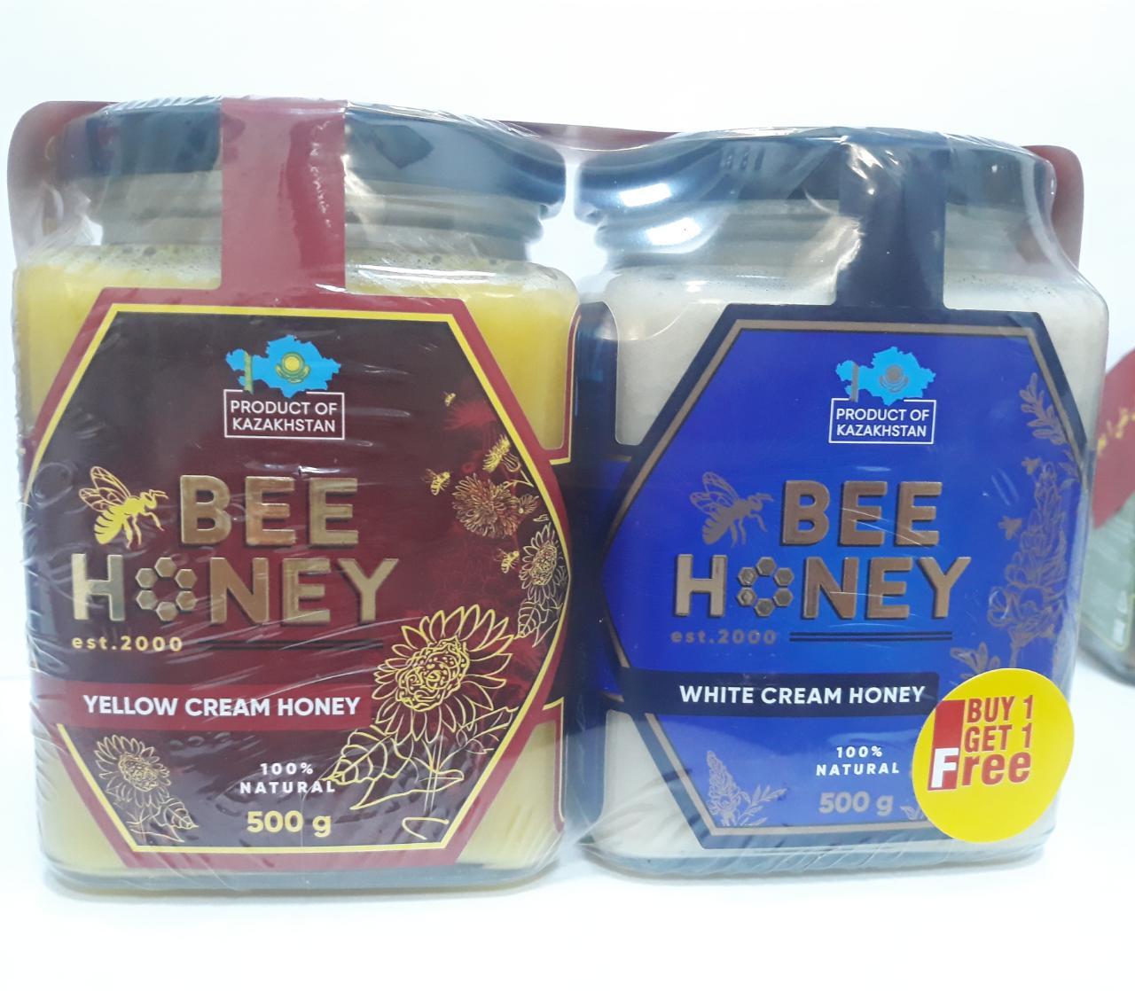 Bee Honey White & Yellow 500gm (Buy 1 Get 1 Free)