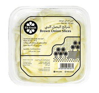 Fit Fresh Brown Onion Slices 250g
