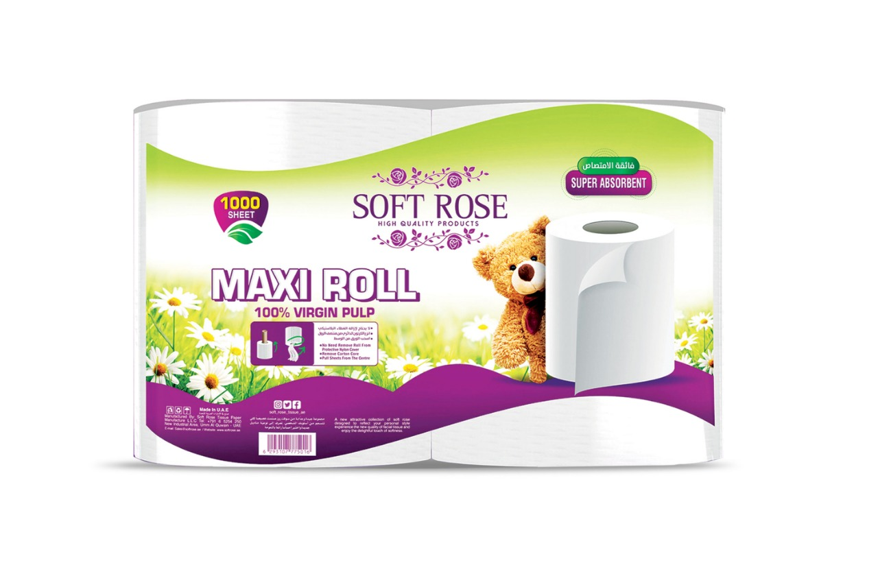 Soft Rose Maxi Roll 1000 Sheets 2*1