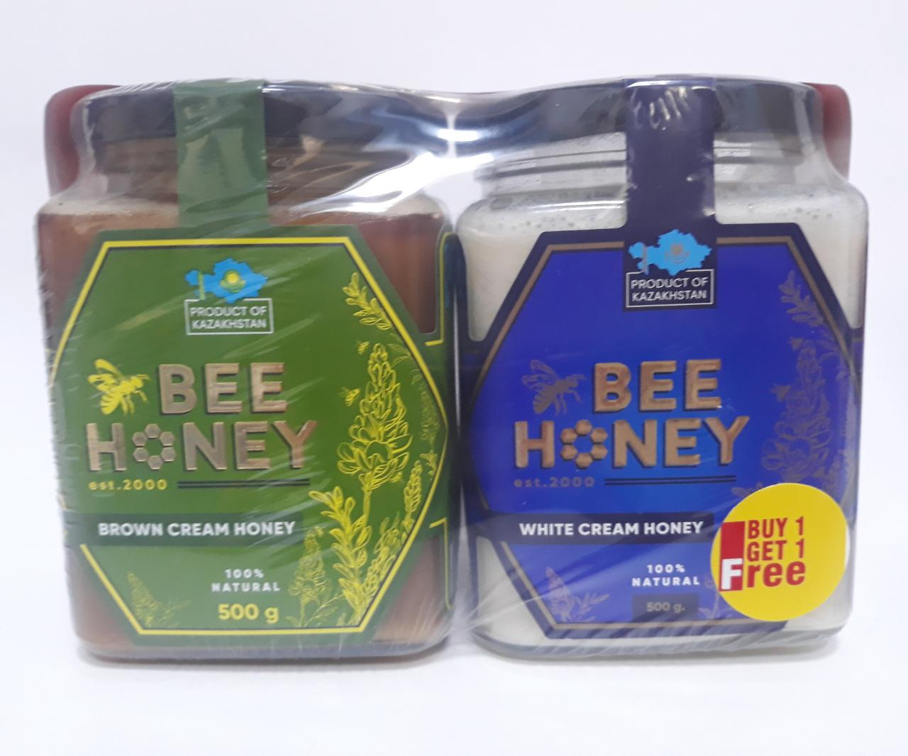 Bee Honey White & Brown 500gm (Buy 1 Get 1 Free)