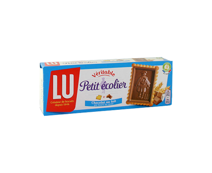 LU PETIT ECOLIER soft milk chocolate biscuits 120G