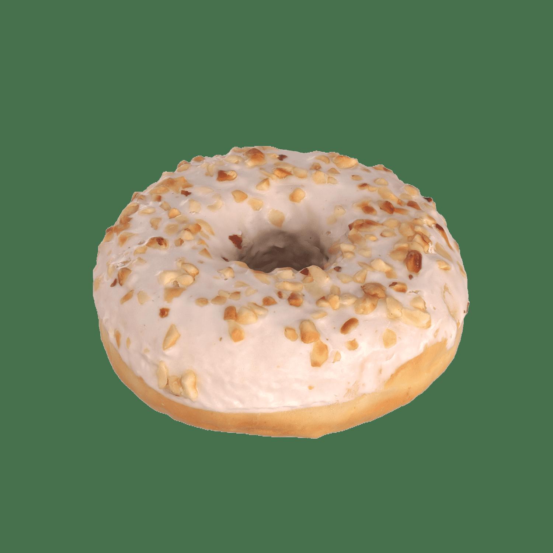 White Donut with Hazelnut and Chocolate