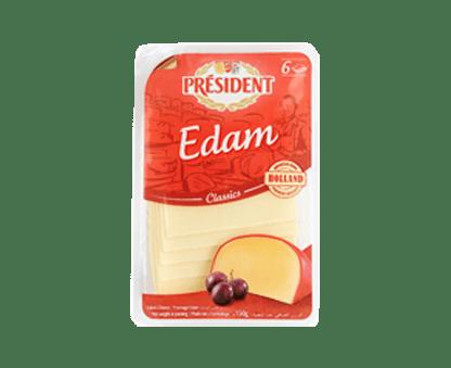 PRESIDENT EDAM SLICES 150GX10 45% FDM
