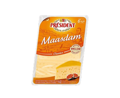 PRESIDENT MAASDAM SLICES 150GX10 45% FDM