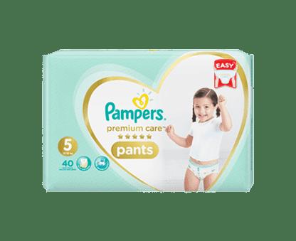 Pampers Premium Care Pants Diapers, Size 5, Junior, 12-18kg, Jumbo Pack, 40 Count
