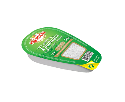 PRESIDENT COTTAGE CHEESE 9% 250G