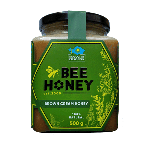 BROWN CREAM HONEY BEE 500G