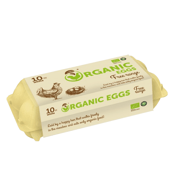 Organic free range eggs TM Organic Eggs 10pcs