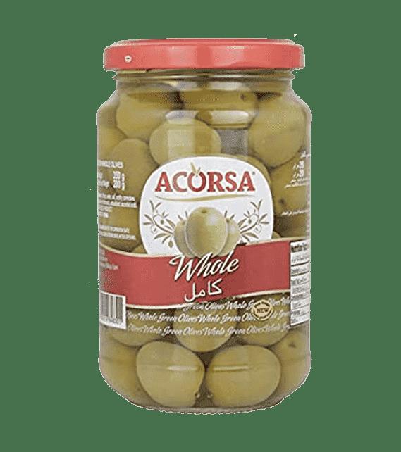 Acorsa Plain Green Olives, 350 g