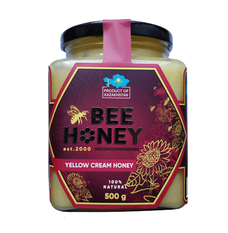 Yellow Cream Honey Bee 500G