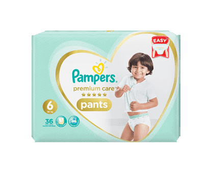 Pampers Premium Care Pants Diapers, Size 6, Extra Large, >16kg, Jumbo Pack, 36 Count