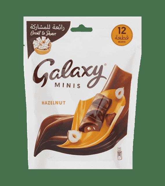 Galaxy 12 bar minis Hazelnut 150g