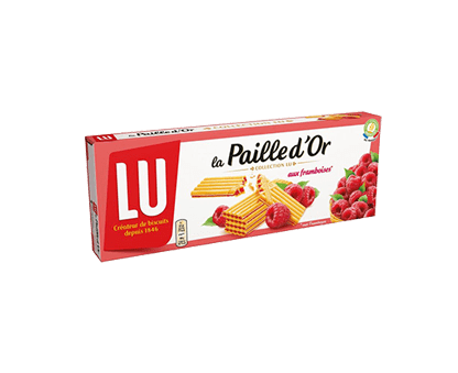 LU PAILLE D'OR raspberry-filled biscuits 170G