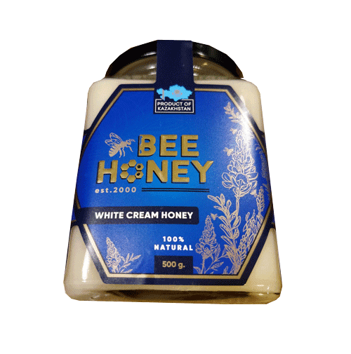 White Cream Honey Bee 500G