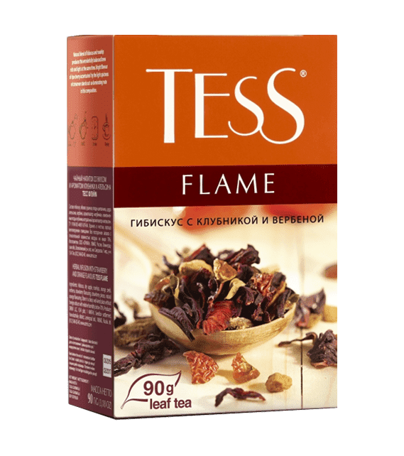 Tess Flame 90g leaf