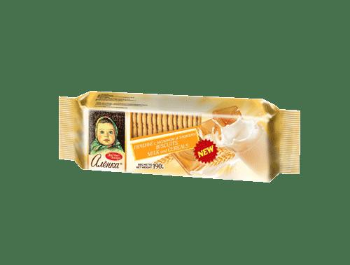 ALIONKA BISCUIT WITH MILK AND CEREALS 190G