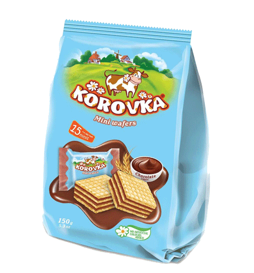 KOROVKA MINI WAFERS CHOC TASTE 150G