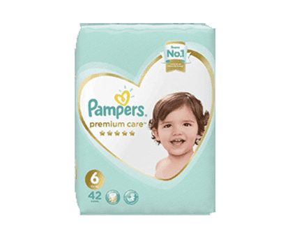 Pampers Premium Care Diapers, Size 6,  Extra Large, 13+ kg, Super Saver Pack, 42 Count