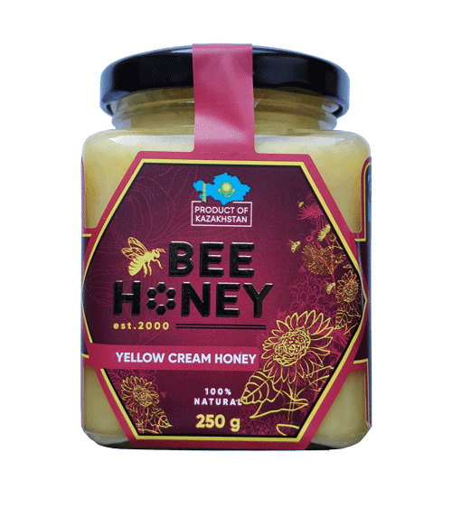 Yellow Cream Honey Bee 250G
