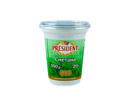 PRESIDENT SOUR CREAM 20%FAT350GX8